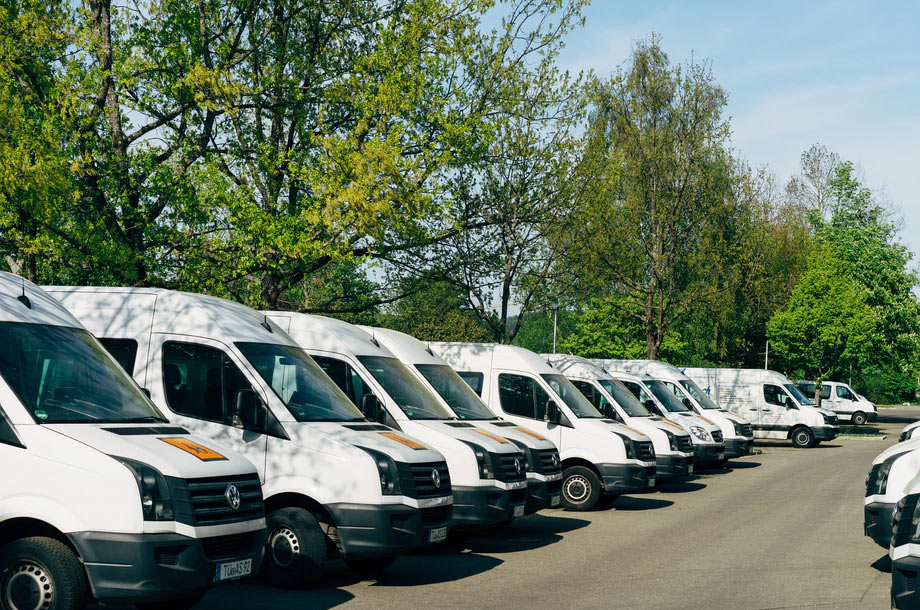 Fleet of work trucks   Commercial Auto