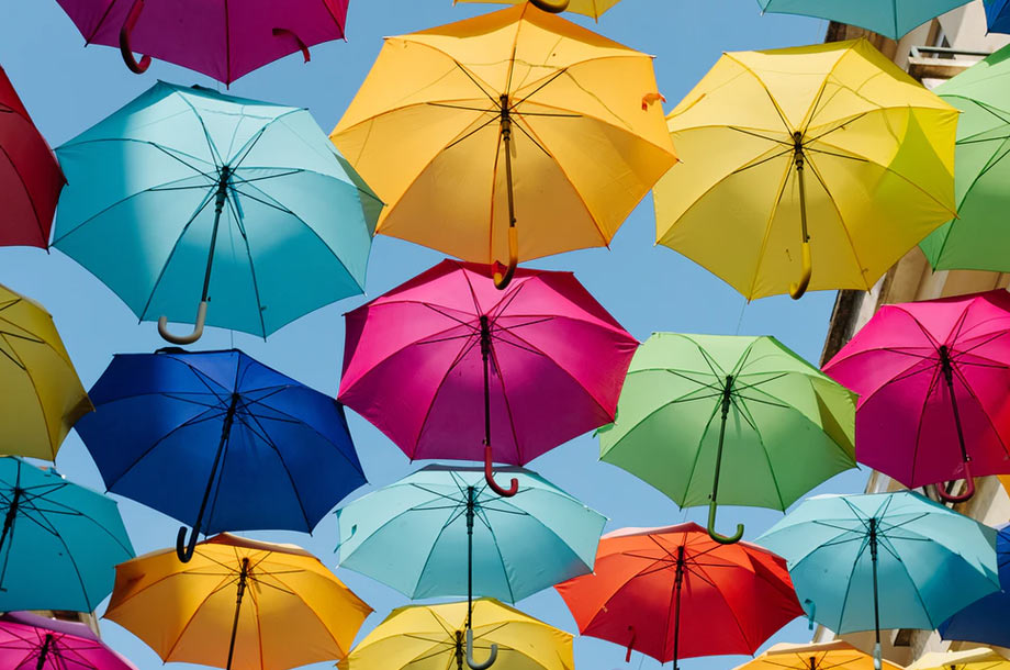Colorful umbrellas   Commercial Umbrella Insurance