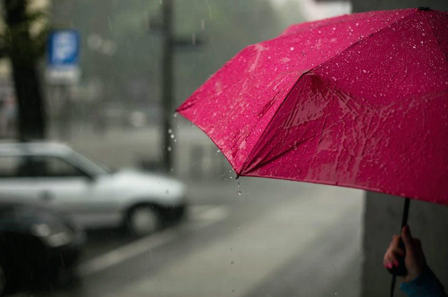 Red umbrella on rainy day   Umbrella Insurance